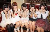 第3のDOLL新アイドルオーディションに合格した5人。左から橘はるか(17)、佐々木璃花(18)、渡辺くるみ(18)、音咲セリナ(16)、澤田明菜(17) (C)De-View