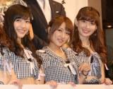 新ドメイン『.tokyo』記者発表会に出席したAKB48(左から)渡辺麻友、高橋みなみ、小嶋陽菜 (C)ORICON NewS inc.