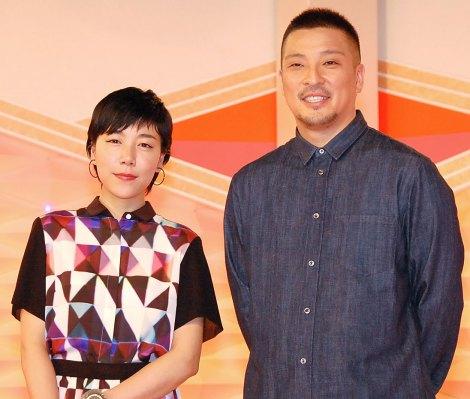 NHK・Eテレ福祉番組『ハートネットTV』新企画『ブレイクスルー』の会見に出席した(左から)安藤桃子、若旦那 (C)ORICON NewS inc.