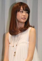 ポッカサッポロフード&ビバレッジ『GREEN  SHOWER』の新CM発表会に出席した桐谷美玲 (C)ORICON NewS inc.