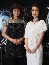 5月19日、TBS系で放送のドラマ『隣の女』に出演する一路真輝(右)と高島礼子(左)(C)ORICON NewS inc.