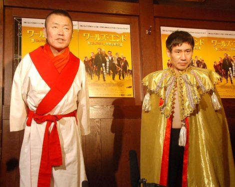 映画『ワールズ・エンド 酔っぱらいが世界を救う!』公開記念イベントに出席した(左から)春一番、エスパー伊東 (C)ORICON NewS inc.