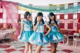 ドラマ主人公が憧れるアイドルユニット「ミルクプラネット」を演じる(左から)AKB48の岩田華怜、渡辺麻友、横山由依