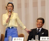 TBS系火曜ドラマ『なるようになるさ。』で夫婦を演じる舘ひろし&浅野温子 (C)ORICON NewS inc.