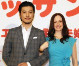 NHK連続テレビ小説『マッサン』に出演することが発表された夫婦役の(左から)玉山鉄二、シャーロット・ケイト・フォックス (C)ORICON NewS inc.