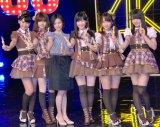 (左から)小嶋真子、島崎遥香、塚本まり子さん、渡辺麻友、川栄李奈、大和田南那=『大人 AKB48 オーディション』合格者お披露目会見 (C)ORICON NewS inc.