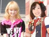 キンタロー。(右)による自身の物まねを苦笑いで見つめていたE-girls・Ami (C)ORICON NewS inc.