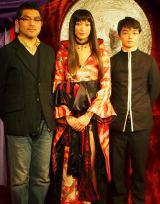 出演者の(左から)豊島圭介、杏、染谷将太 (C)ORICON DD inc.