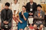 連続テレビ小説『ごちそうさん』のファンイベントに出席した(左から)東出昌大、杏、和田正人(C)NHK