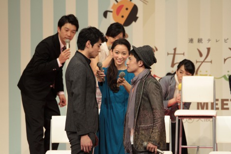 NHK大阪ホールで開催された連続テレビ小説『ごちそうさん』のファンミーティングの模様(C)NHK