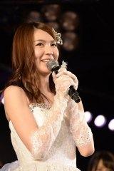 AKB48チームAの千秋楽公演をもって卒業した菊地あやか (C)AKS