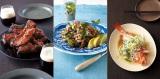 『ほめられ料理 プレミアム・レシピ』(世界文化社・税抜1250円)より。(左)スペアリブ  (中)ミントとパセリのサラダ  (右)旬魚の蒸しもの、シンガポール風