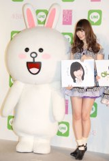 『LINE×AKB48グループ コラボプロジェクト キックオフイベント』に出席した小嶋陽菜 (C)ORICON NewS inc.