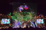 『ひかりTV』とのコラボレーションで、一夜限りの幻想的なライブプロジェクションを実施したSEKAI NO OWARI (4月29日=さいたまスーパーアリーナ) (C)oricon ME inc.