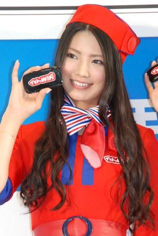 「イモトのWiFi」PR大使就任記念イベントに出席した倉持明日香 (C)ORICON NewS inc.