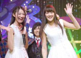 (左から)X21の吉本実憂、若山あやの/アイドルイベント『東京アイドルフェスティバル 2014』記者発表会 (C)ORICON NewS inc.