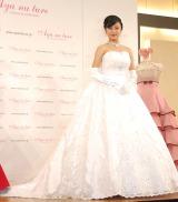 純白のドレスに身を包む小島瑠璃子=ウェディングドレス・ブランド『Ayana ture(アヤナチュール)』新作発表会 (C)ORICON NewS inc.