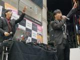 2nd EP「ディスコの神様 feat.藤井隆」発売記念ライブを行ったtofubeats、藤井隆 (C)ORICON NewS inc.