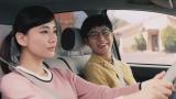 (左から)水川あさみ、妻夫木聡/トヨタ「ハートを磨け!PASSO」キャンペーン第2弾CMより