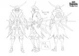新作テレビアニメ『戦国BASARA Judge End』キャラクター設定画・伊達政宗(全身)(C)CAPCOM/BASARA JE