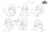 新作テレビアニメ『戦国BASARA Judge End』キャラクター設定画・石田三成(表情)(C)CAPCOM/BASARA JE