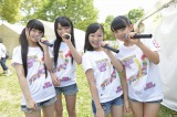 AKB48チーム8の(左から)高橋彩音(埼玉)、左伴彩佳(山梨)、谷口もか(宮崎)、宮里莉羅(沖縄)(C)AKS