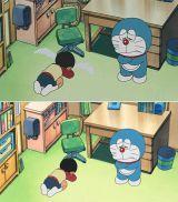 日本語タイトル「走れウマタケ!」より。日本版(画像上)ののび太の涙が米国版(画像下)では消えている(C)藤子プロ・小学館・テレビ朝日・シンエイ・ADK
