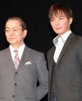 『相棒』劇場版の舞台あいさつに登壇した(左から)水谷豊、成宮寛貴 (C)ORICON NewS inc.
