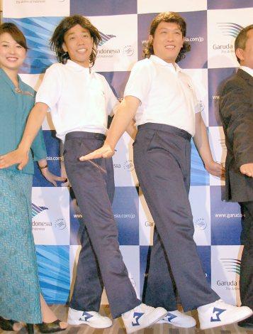 ガルーダ・インドネシア航空のメディア懇親会に出席したCOWCOW(左から)多田健二、善し (C)ORICON NewS inc.