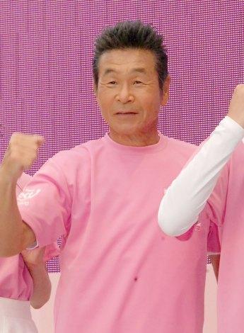 日本一周『みんなのMAEMUKI駅伝2014』スタートイベントに出席した間寛平 (C)ORICON NewS inc.