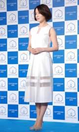 清楚な白ドレスで登場した檀れい=『COTTON USA AWARD 2014 〜コットンといきる人〜』授与式 (C)ORICON NewS inc.