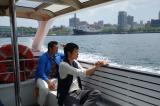 水上バスで海の上から横浜の町並みを堪能(C)関西テレビ