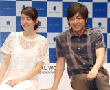 GLOBAL WORK『20TH ANNIVERSARY THE LAUNCH EVENT 2014』に出席した(左から)長澤まさみ、大沢たかお (C)ORICON NewS inc.