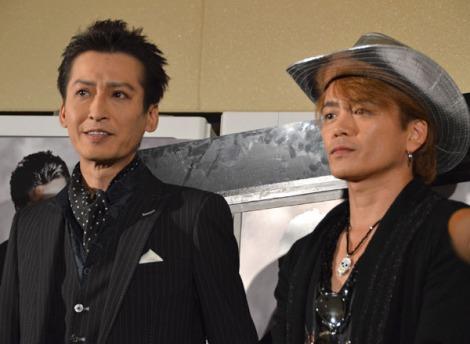 W主演映画『鷲と鷹』初日に会見した大沢樹生(左)と諸星和己 (C)ORICON NewS inc.
