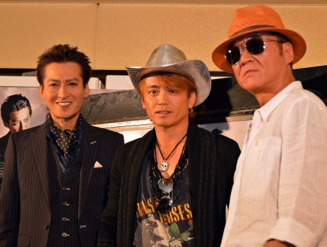 W主演映画『鷲と鷹』初日に会見した(左から)大沢樹生、諸星和己、小沢仁志 (C)ORICON NewS inc.
