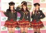 大島優子卒業後の飛躍を誓ったAKB48(左から)岡田奈々、川栄李奈、大島涼花 (C)ORICON NewS inc.