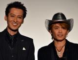 映画『鷲と鷹』の初日舞台あいさつを行った(左から)大沢樹生、諸星和己 (C)ORICON NewS inc.