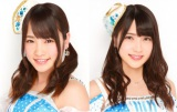AKB48の握手会で男に切りつけられて負傷し、病院で手術を受けた川栄李奈(左)と入山杏奈(C)AKS