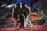(左から)黒木メイサ、ポール・W・S・アンダーソン監督&ミラ・ジョヴォヴィッチ夫妻=映画『ポンペイ』ジャパン・プレミアイベント