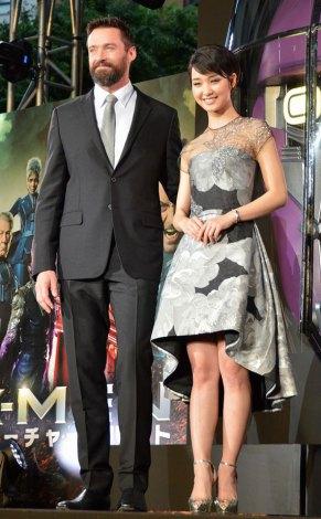映画『X-MEN: フューチャー&パスト』ジャパンプレミアに出席した(左から)ヒュー・ジャックマン、剛力彩芽 (C)ORICON NewS inc.