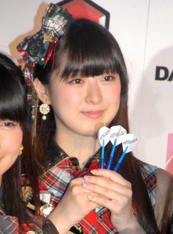 『DARTSLIVE×AKB48』プロジェクト発表会に出席した伊豆田莉奈 (C)ORICON NewS inc.