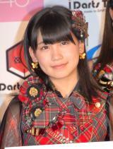 『DARTSLIVE×AKB48』プロジェクト発表会に出席した小嶋真子 (C)ORICON NewS inc.