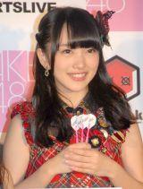 『DARTSLIVE×AKB48』プロジェクト発表会に出席した向井地美音 (C)ORICON NewS inc.