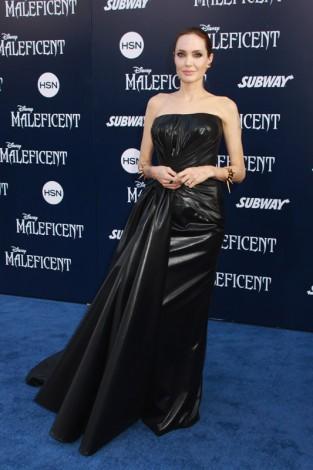 ハリウッドで開催された映画『マレフィセント』ワールドプレミアに来場したアンジェリーナ・ジョリー(Photo by Kazuki Hirata/HollywoodNewsWire.net)