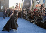 ハリウッドで開催された映画『マレフィセント』ワールドプレミアに来場したアンジェリーナ・ジョリー