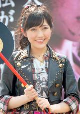 "『AKB48 選抜総選挙 生放送SP』特別企画""戦国アドトラック出陣式""に出席したAKB48・渡辺麻友 (C)ORICON NewS inc."