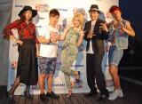 イベント登壇者(左から)椿鬼奴、入江慎也、水沢アリー、2700の全身ショット (C)ORICON NewS inc.