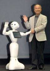 世界初の感情認識ロボット『pepper』&孫正義社長=ソフトバンクグループ記者会見 (C)ORICON NewS inc.