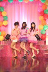 ユニット結成とCDデビューが発表された、アイドリング!!!3期生の3名。(左から)橘ゆりか、大川藍、橋本楓。