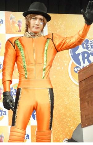 『ファンタ キャンペーン第2弾』発表会に出席したゴールデンボンバーの喜矢武豊 (C)ORICON NewS inc.